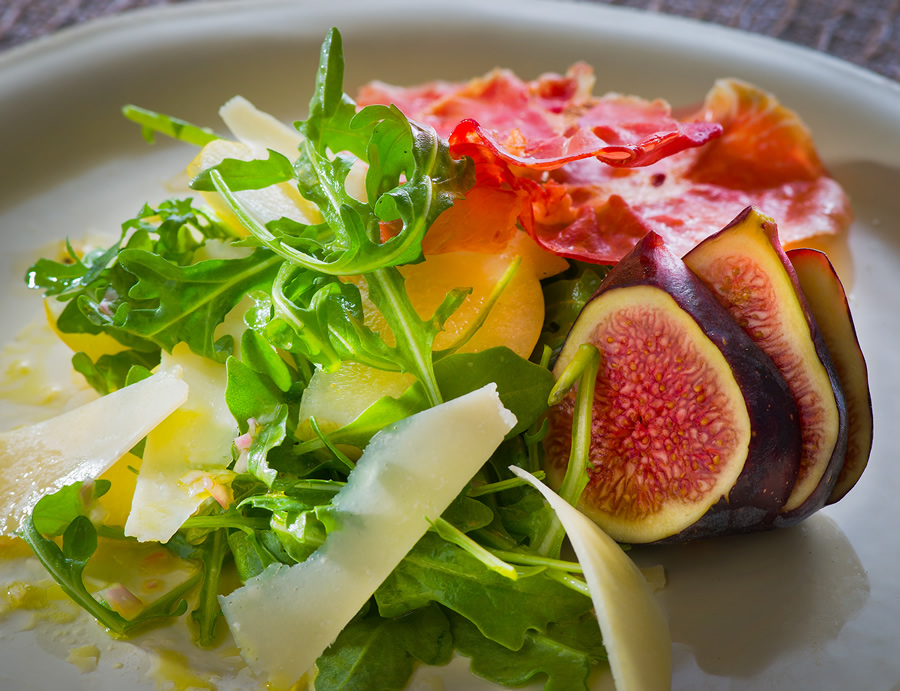 ARUGULA, ASIAN PEAR AND PROSCUITTO SALAD