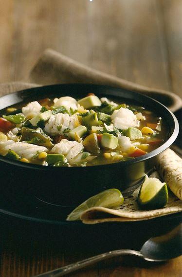 Recipe: TOMATILLO, CORN AND ALASKA COD CHOWDER