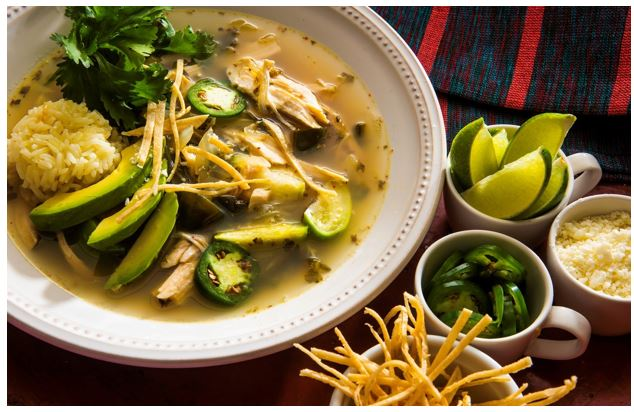 mexican chicken soup with lime