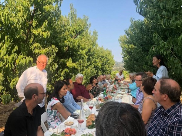 dry creek peach vineyard dinner with Chef John Ash